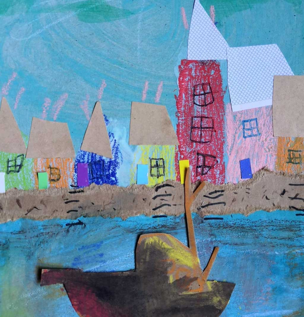 Painting of a Harbour Scene by Susan Birth