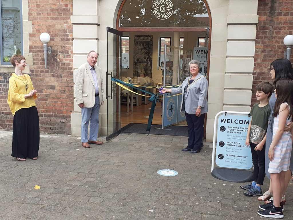 Cutting ribbon reopening