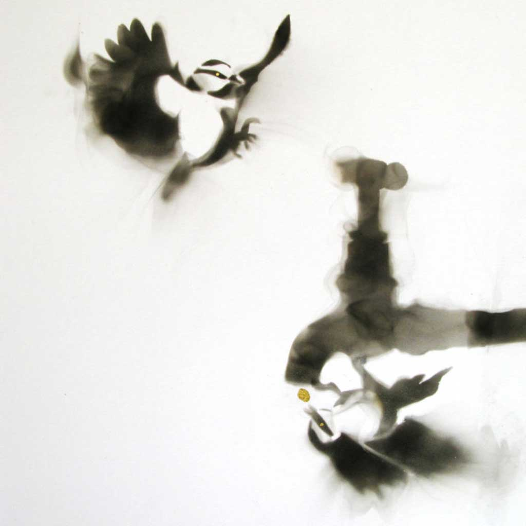 Soot painting by Anne Guest
