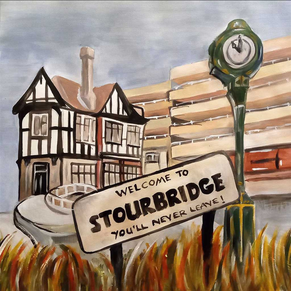 Cover painting of album cover for Welcome To Stourbridge