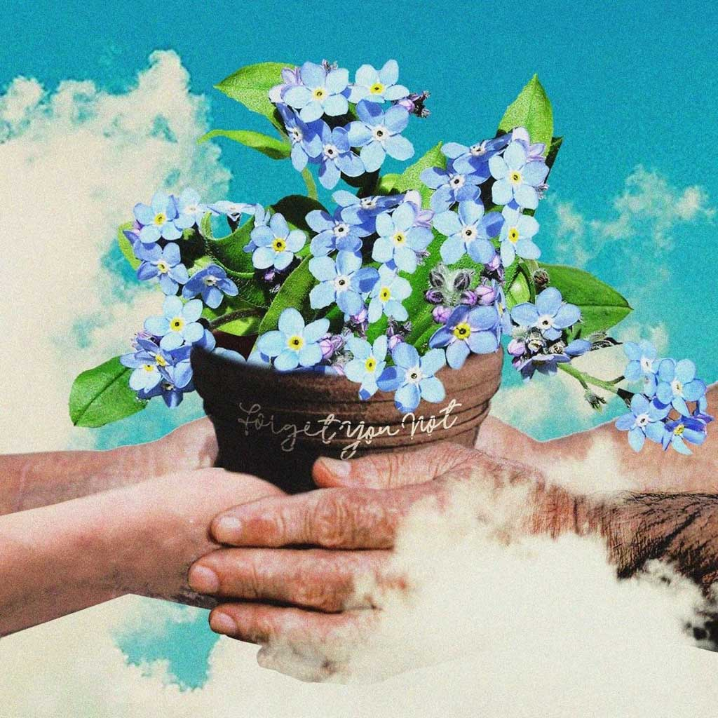 Photo of hands and flowers of Darla Jade Forget You Not single cover