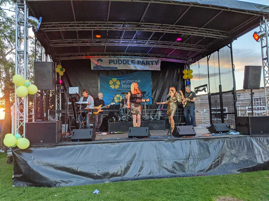 Picture of the stage at Primrose Hospice festival 2020