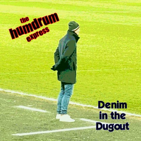 Photo of man of football pitch for Denim in the Dugout by The Humdrum Express – Single Cover