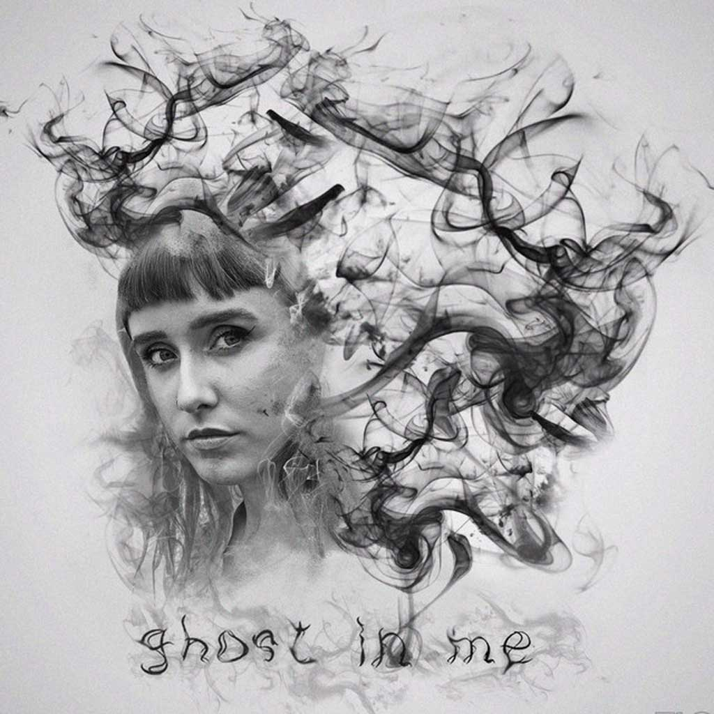 Line drawing of Ghost In Me by Darla Jade - Single Cover