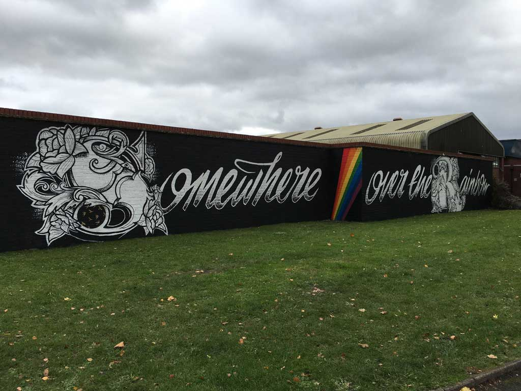 Graffiti wall Worcester Paint Festival preview