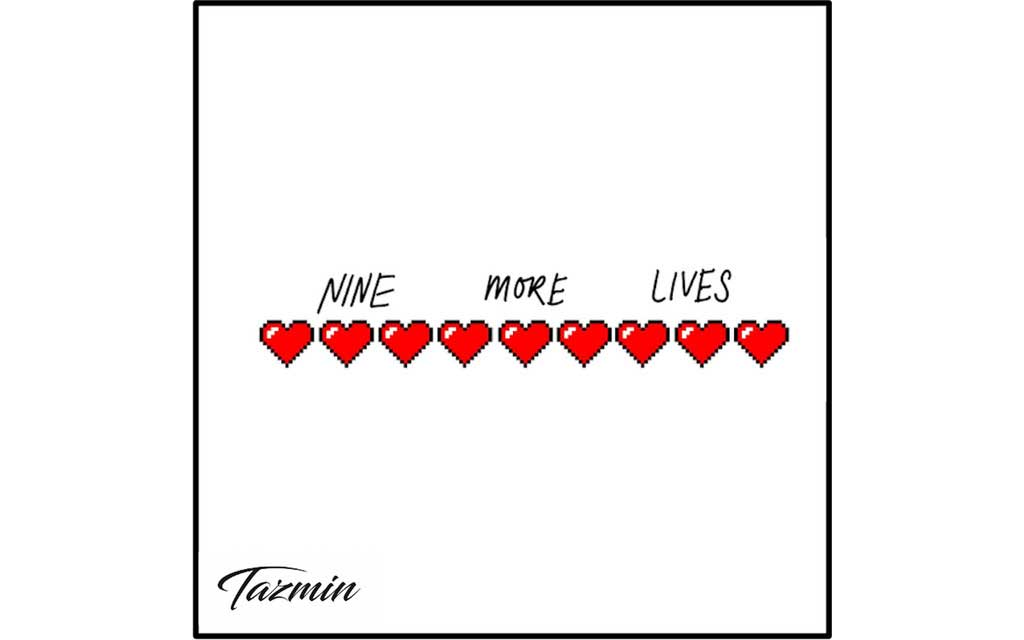 Single cover of heart drawings for Tazmin Nine More Lives