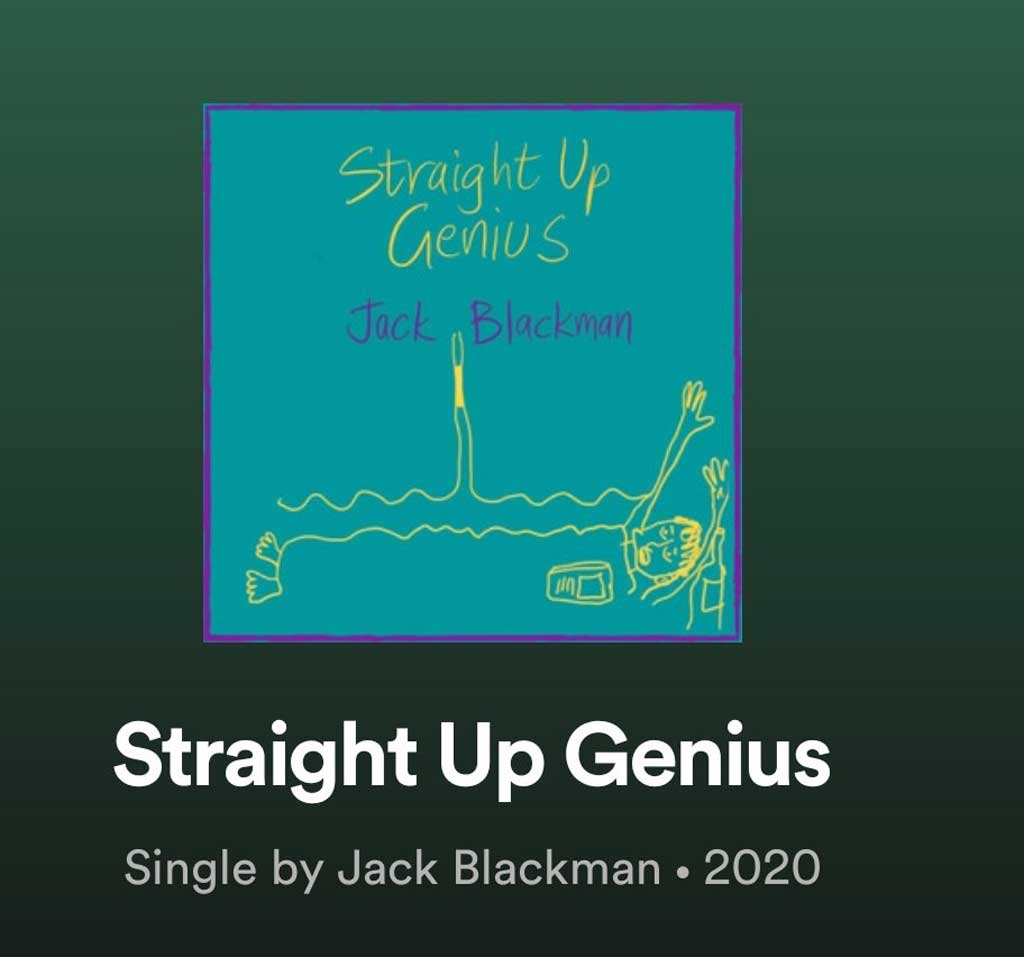 single cover for Straight Up Genius by Jack Blackman