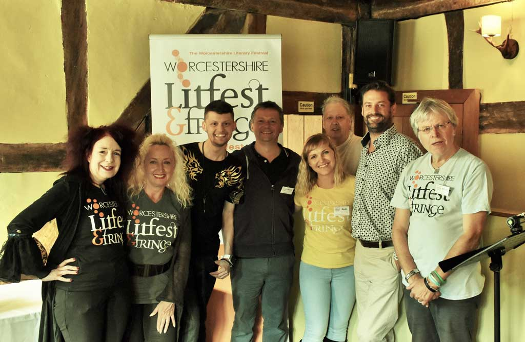 Photo of the team at Worcestershire LitFest