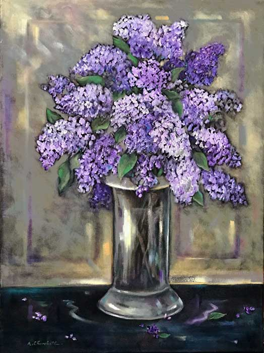 Painting of Lockdwon Lilacs