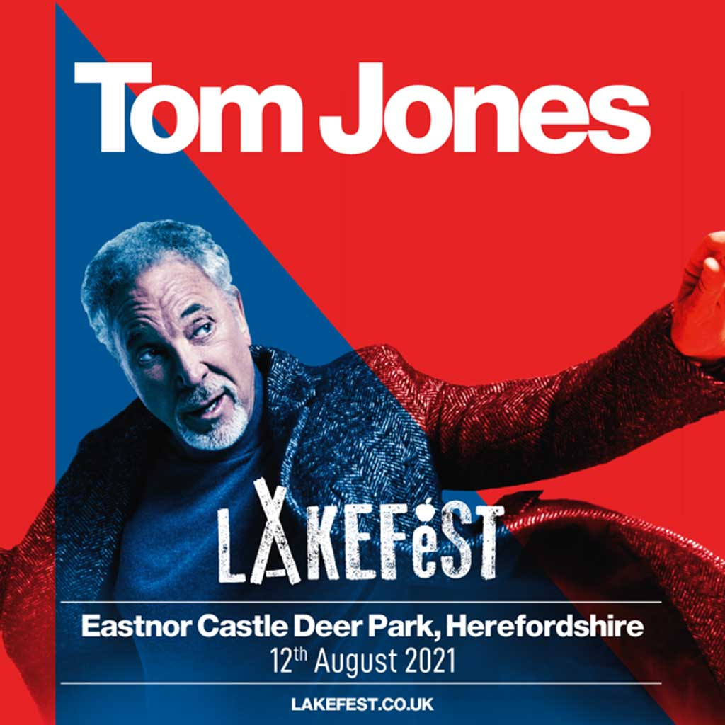 Poster for Tom Jones at Lakefest 2021