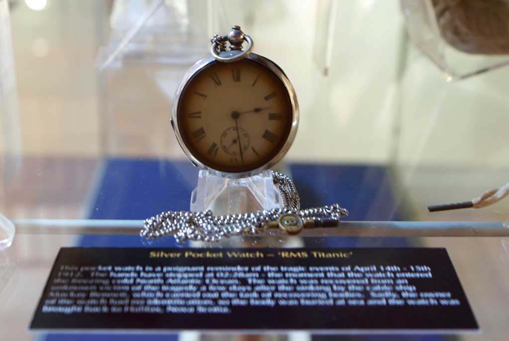 Photo of Pocket watch recovered from the Titanic - Image courtesy of Titanic Honour and Glory Ltd collection and archives.