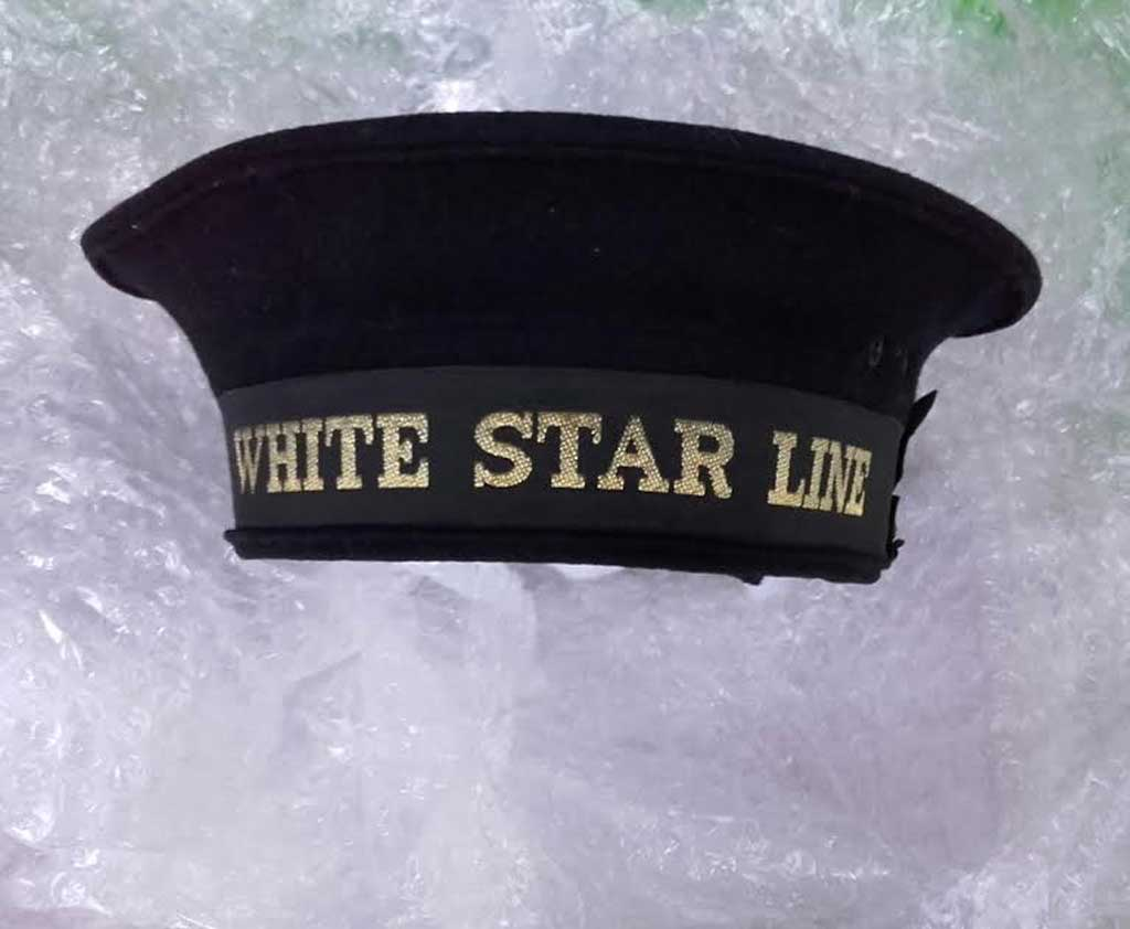 Photo of Quartermaster's Cap - Image courtesy of Titanic Honour and Glory Ltd collection and archives.