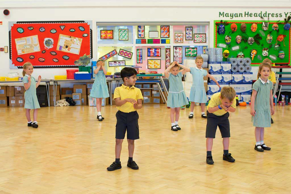 Photo of Lyppard Grange pupils going on an adventure with drama activities to spark imagination before filming