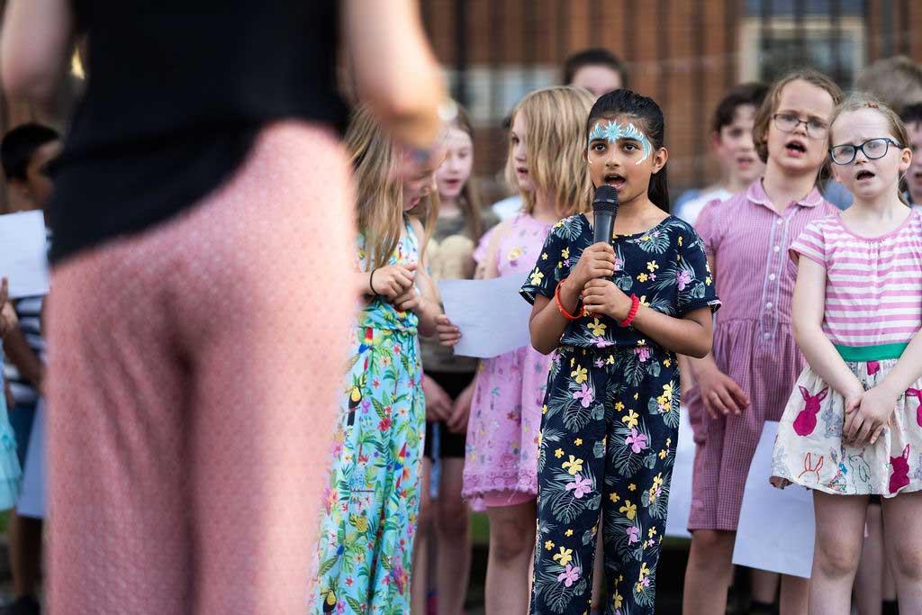 Photo of Stanley Road School choir