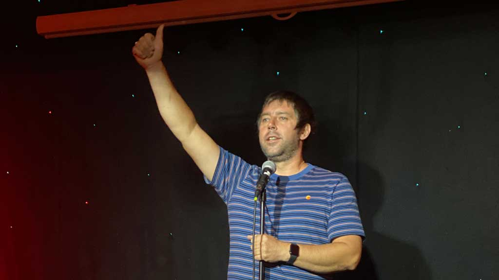 Mike Newall the compere
