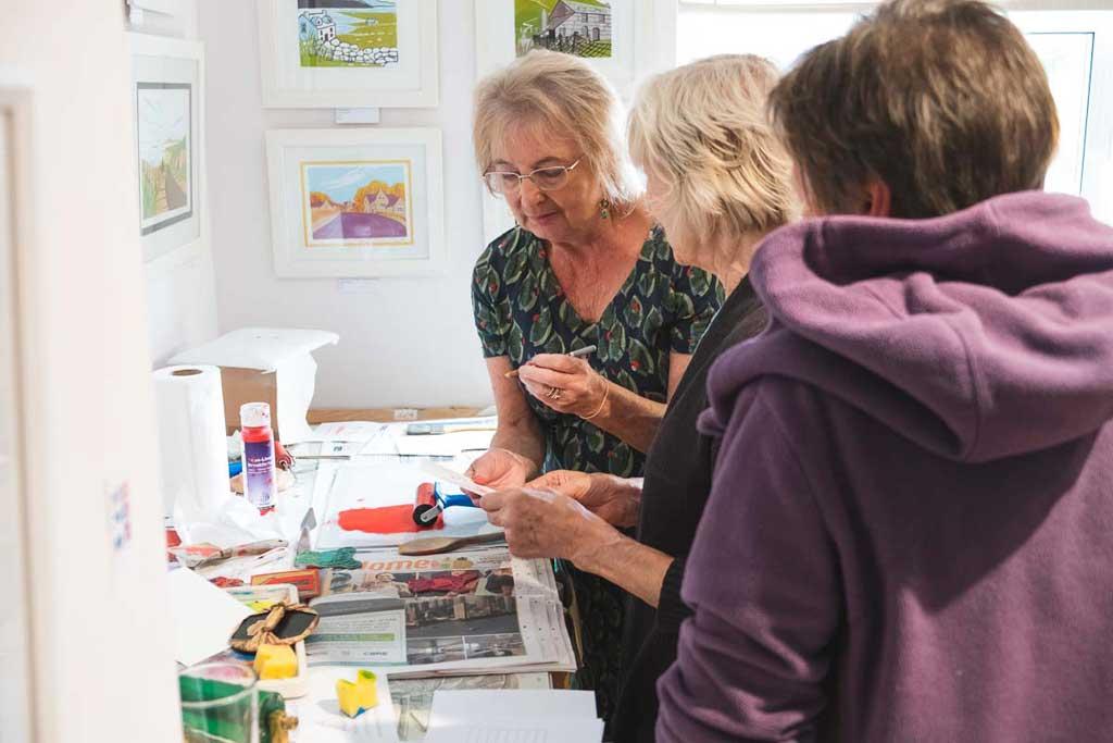 Photo of Sally Anne Morgan's open studio