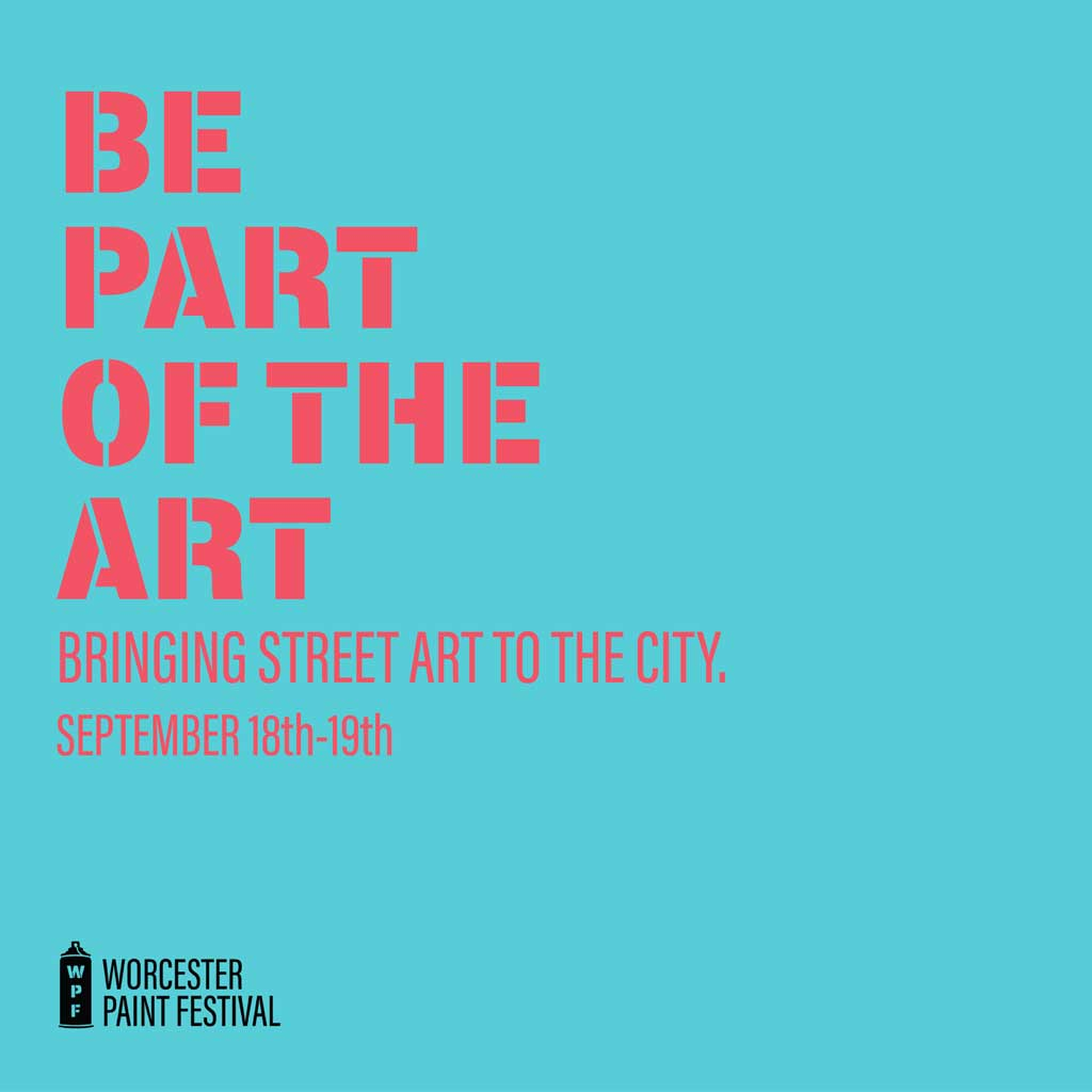 Worcester Paint Festival be part of the art graphic