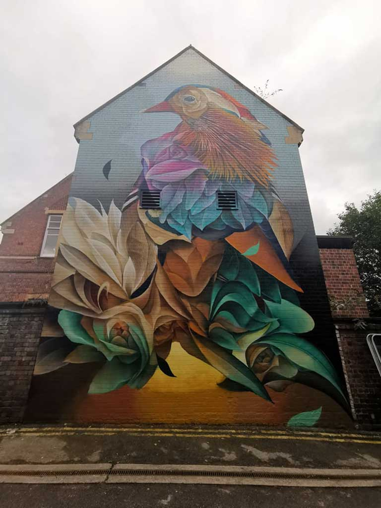 Phot of Mural from Worcester Paint Festival