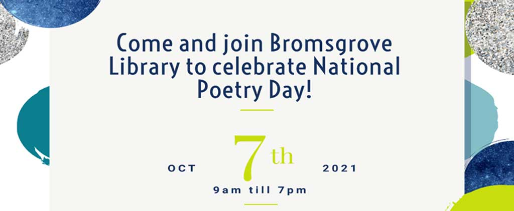 Poster for Bromsgrove poetry day