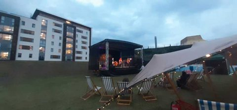 Photo of outdoor stage